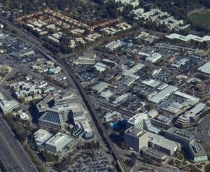 Aerial image of Walnut Creek, CA